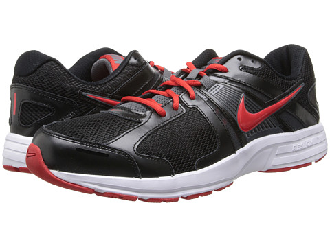 Nike - Dart 10 (Black/Dark Grey/Black/Challenge Red) Men's Running Shoes