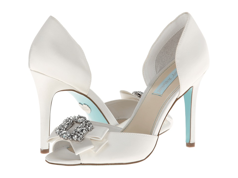 Blue by Betsey Johnson - Glam (Ivory Satin) High Heels