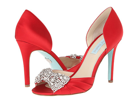 Blue by Betsey Johnson Gown (Red Satin) High Heels