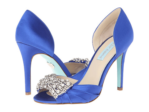 Blue by Betsey Johnson - Gown (Royal Blue Satin) High Heels