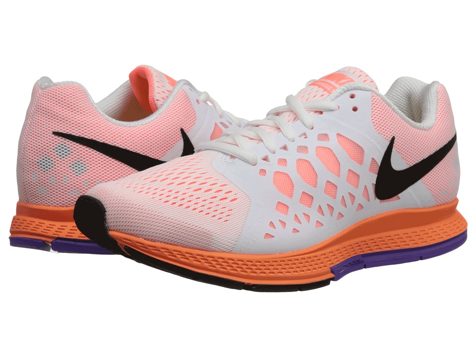 Nike - Zoom Pegasus 31 (White/Bright Mango/Hyper Grape/Black) Women's Running Shoes
