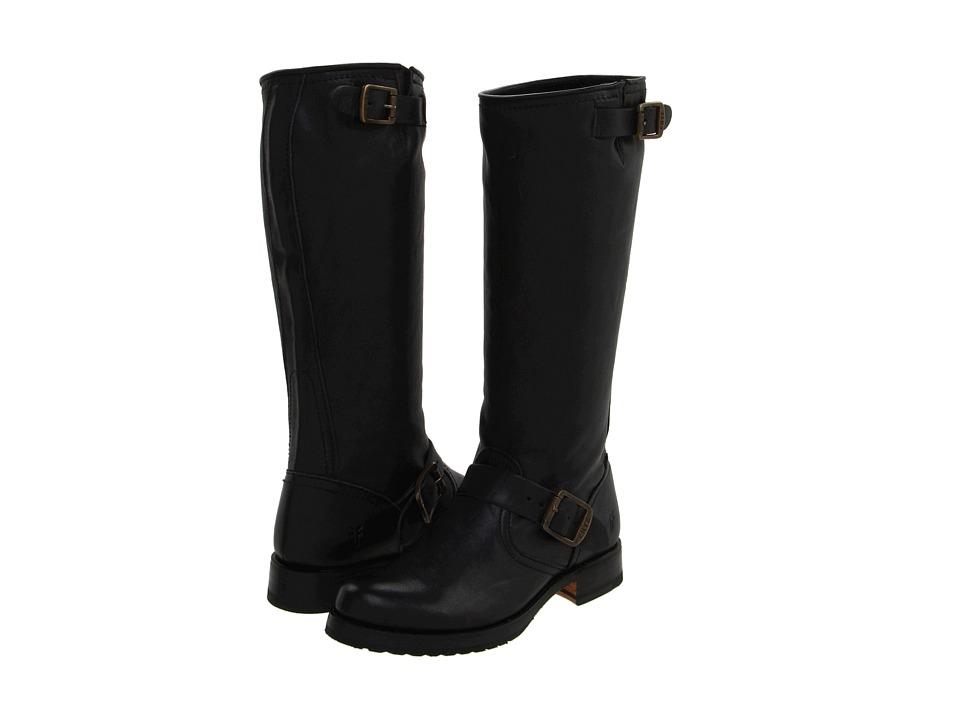 Frye - Veronica Slouch (Black Tumbled Full-Grain) Cowboy Boots