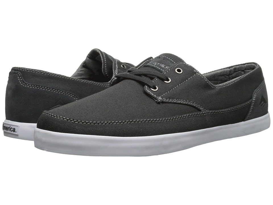 Emerica - The Romero Troubadour Low (Dark Grey/White) Men's Skate Shoes