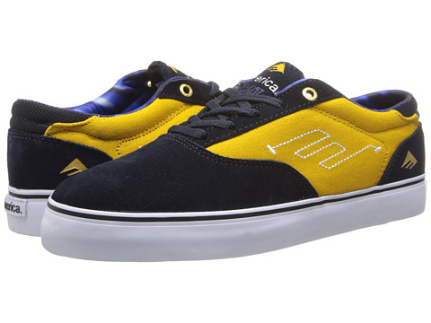 Emerica - The Provost (Navy/Yellow) Men's Skate Shoes