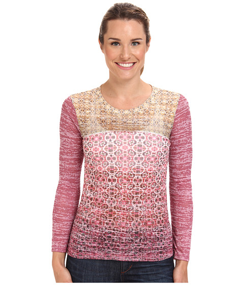 Prana - Lottie Top (Crushed Cran) Women's Long Sleeve Pullover