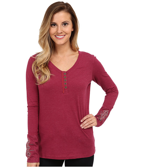 Prana - Rosie Top (Plum Red) Women's Long Sleeve Pullover