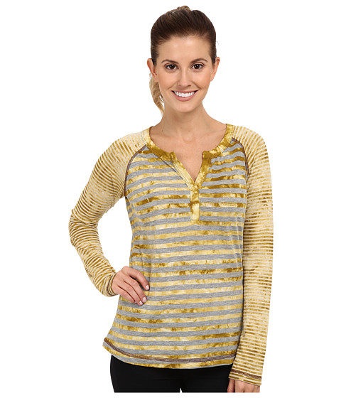 Prana - Zoe Henley Top (Gold Leaf) Women's Long Sleeve Pullover