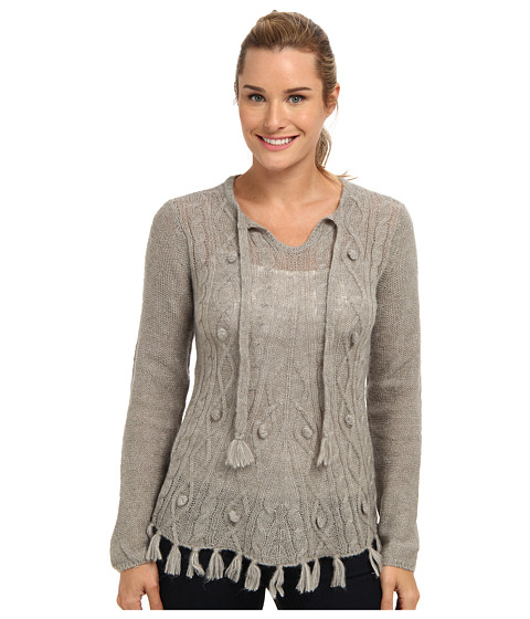 Prana - Shelby Poncho (Fog) Women's Sweater