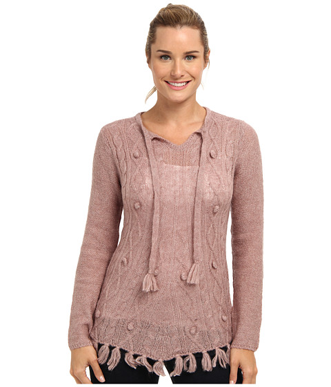 Prana - Shelby Poncho (Light Mauve) Women's Sweater