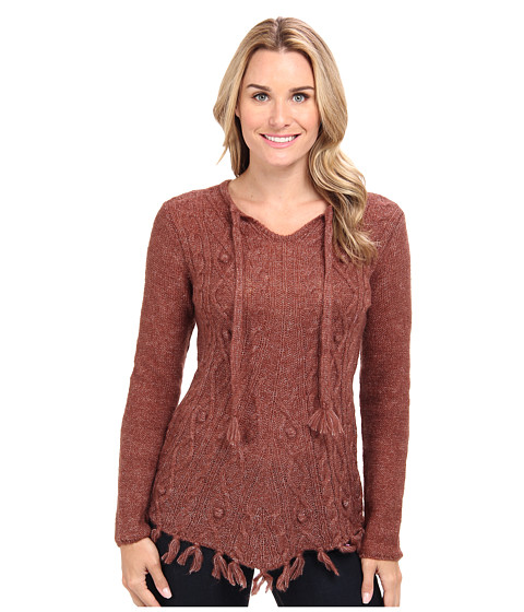 Prana - Shelby Poncho (Terracotta) Women's Sweater