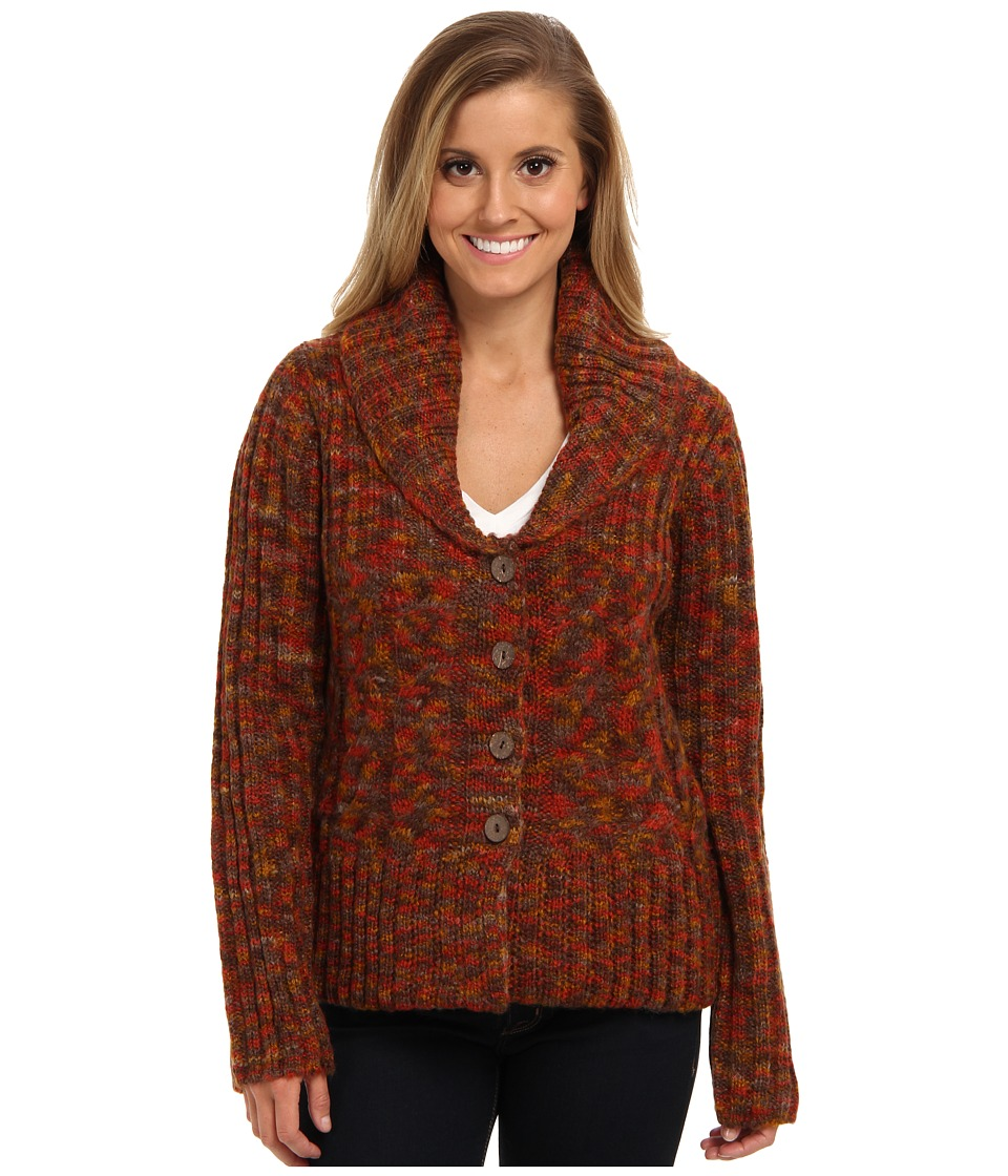 Prana - Charlotte Cardigan (Terracotta) Women's Sweater
