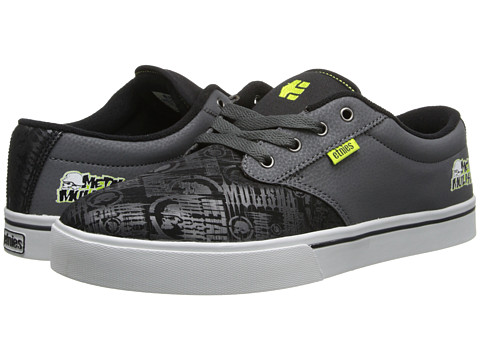 etnies - Metal Mulisha Jameson 2 (Black/Dark Grey) Men's Skate Shoes