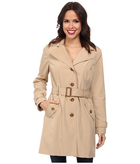 Calvin Klein - Hooded Trench Coat CW442763 (Khaki) Women's Coat