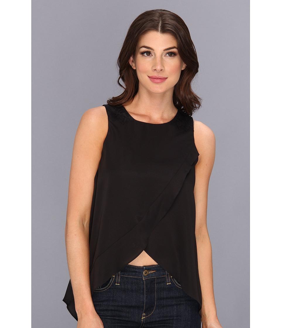 BCBGeneration - Woven Sportswear Top KUD1R868 (Black) Women's Sleeveless