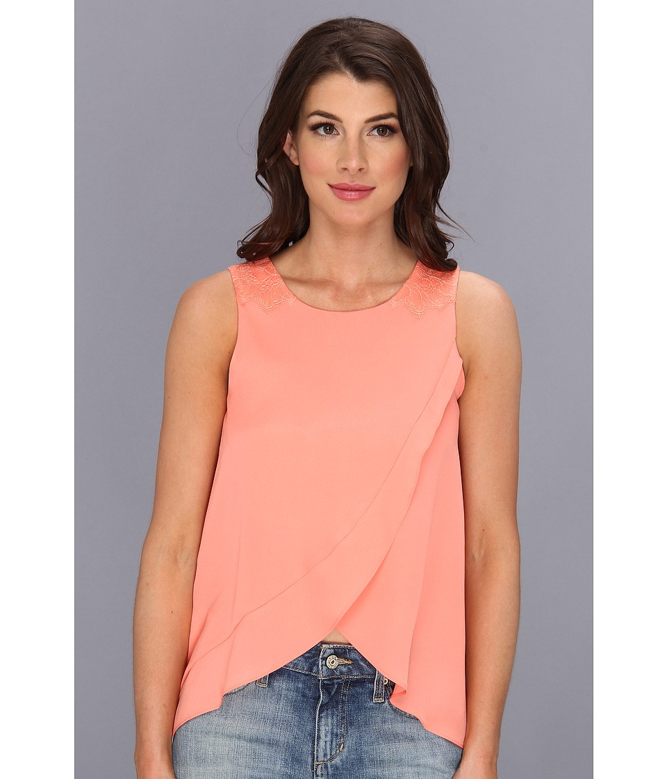 BCBGeneration - Woven Sportswear Top KUD1R868 (Sherbet) Women's Sleeveless