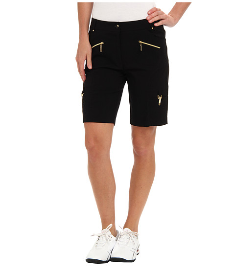 Jamie Sadock - Melody 19 in. Short with Gold Zippers (Black With Gold) Women