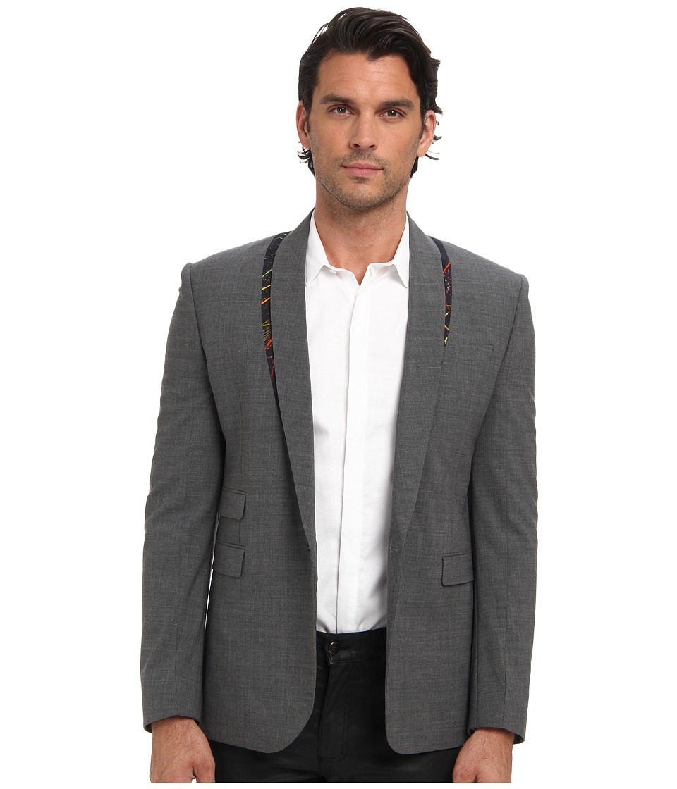 McQ - Nasty McQ Tailored Blazer (Grey Melange) Men's Jacket