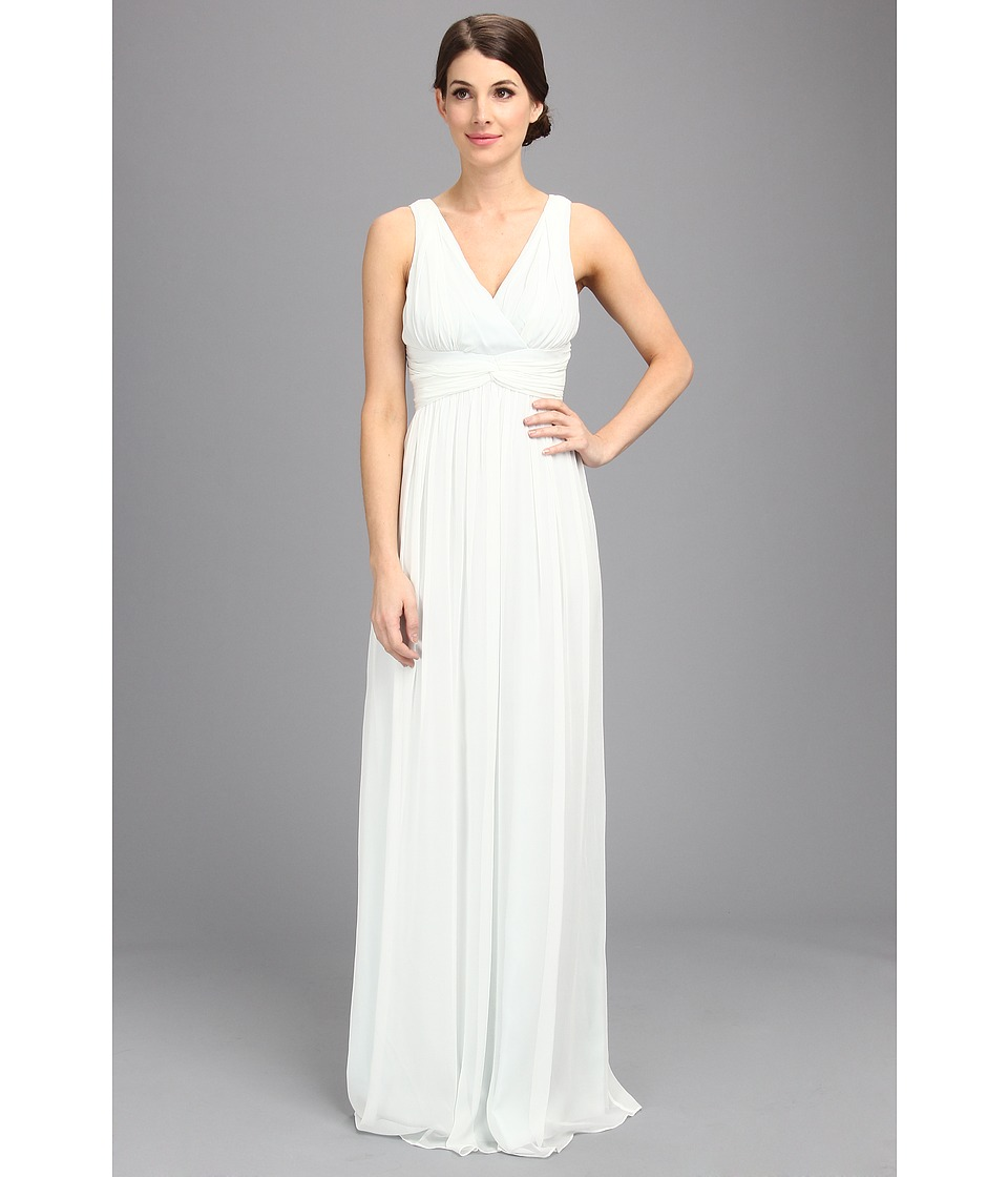 Donna Morgan - Julie Bra Friendly Long Gown (Hint of Mint) Women's Dress