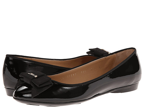 Salvatore Ferragamo - My Knot (Nero Millen Patent) Women's Flat Shoes