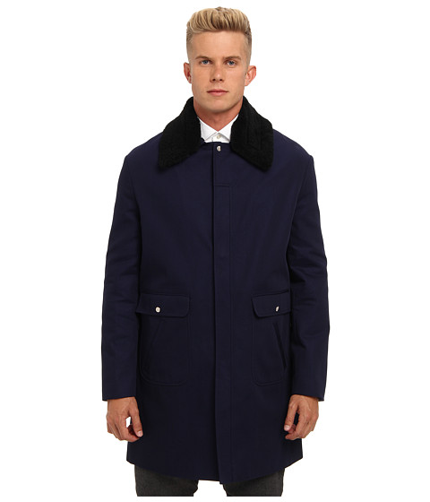 McQ - Overcoat (Dark Navy) Men