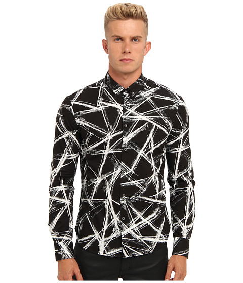 McQ - Engraved Edge Printed Shirt (Black) Men