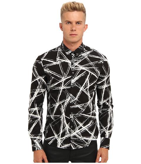 McQ - Engraved Edge Printed Shirt (Black) Men