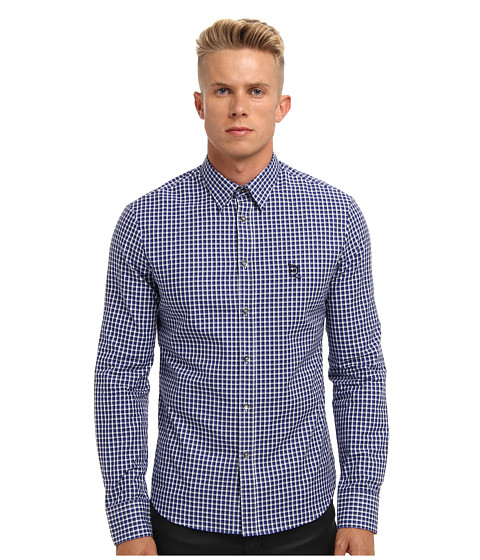 McQ - Nasty Mod Harness Shirt (Dark Navy) Men's Long Sleeve Button Up