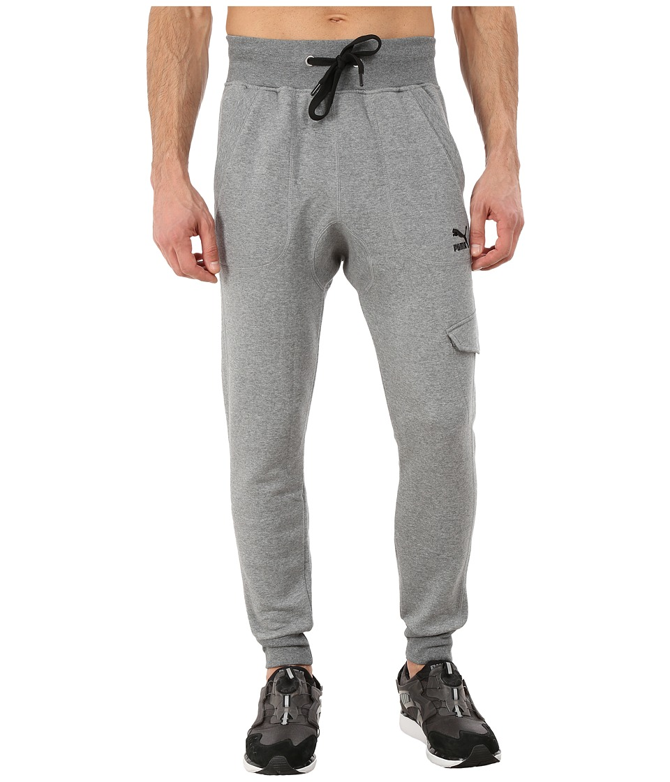 PUMA - Cargo Sweat Pants (Medium Gray Heather) Men's Casual Pants