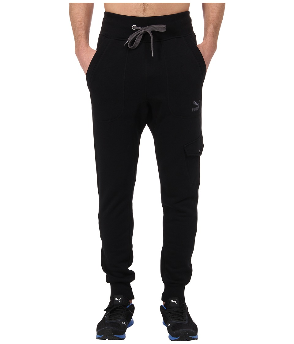 PUMA - Cargo Sweat Pants (Black) Men's Casual Pants