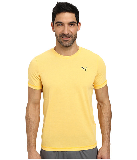 PUMA - Essential Short Sleeve Crew (Gold Fusion/Banana) Men's Short Sleeve Pullover