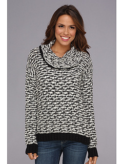 SALE! $39.99 - Save $50 on Calvin Klein Chunky Cowl Sweater (Black White) Apparel - 55.32% OFF $89.50