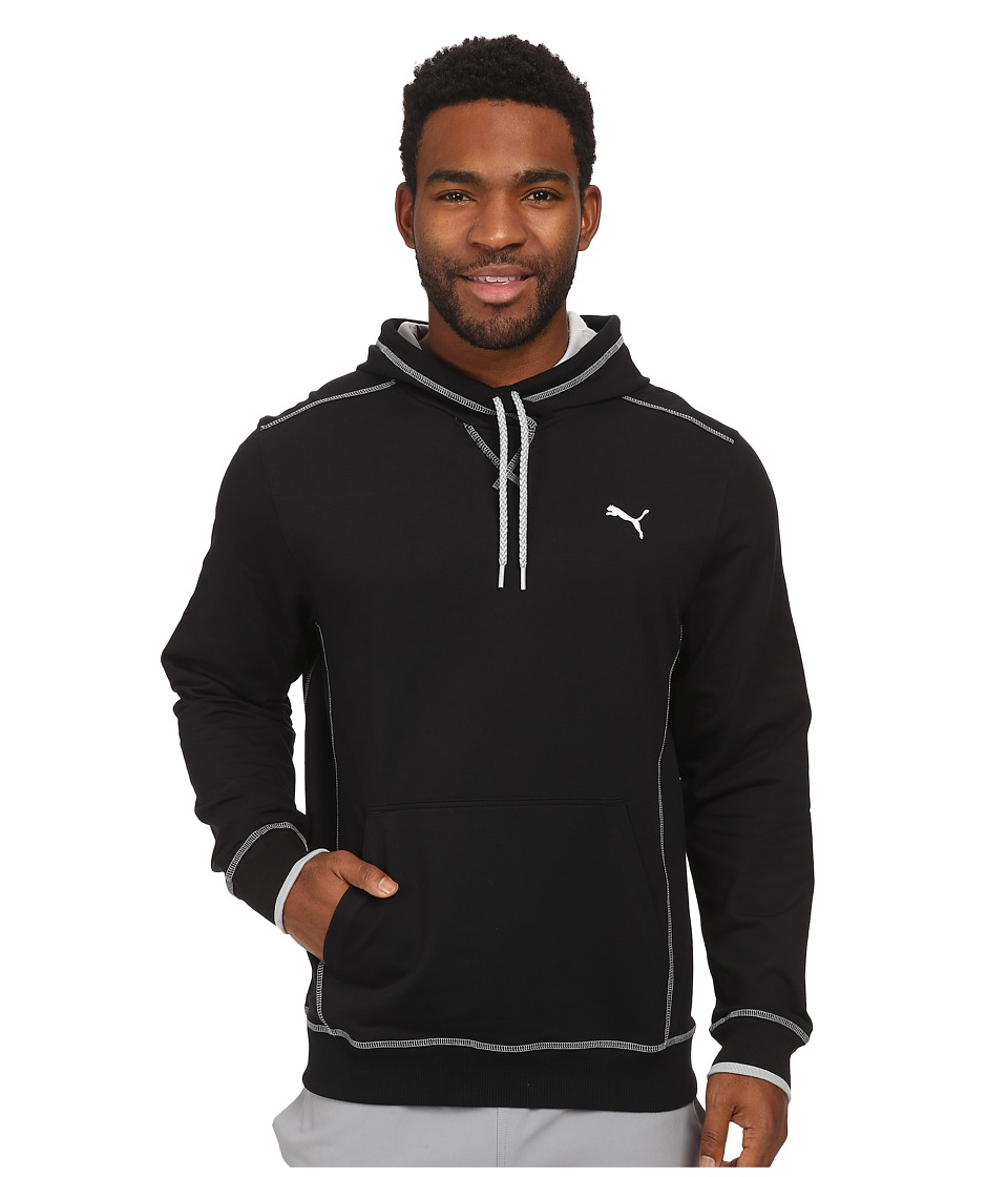 PUMA - Lightweight Hooded Henley (Black) Men's Sweatshirt