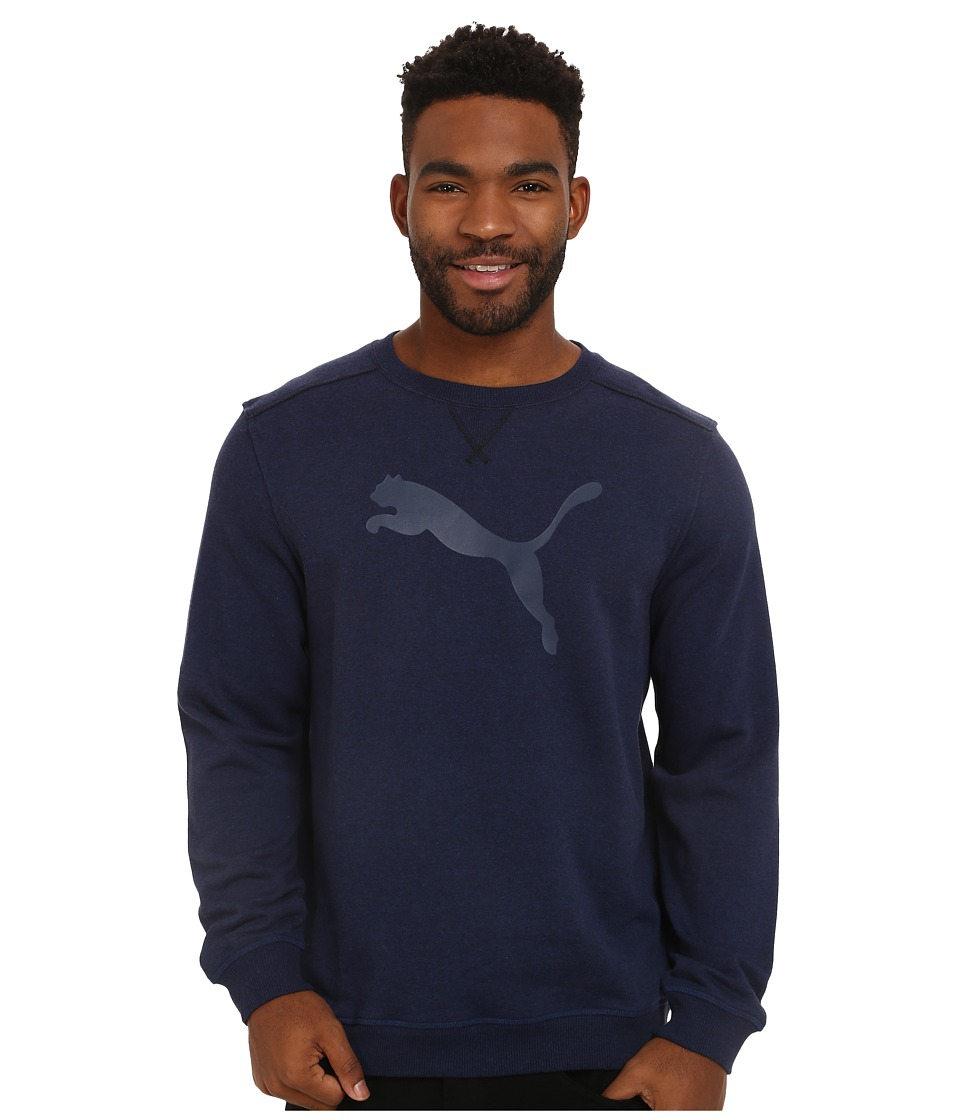 PUMA - Crew Sweat (Peacoat Heather) Men