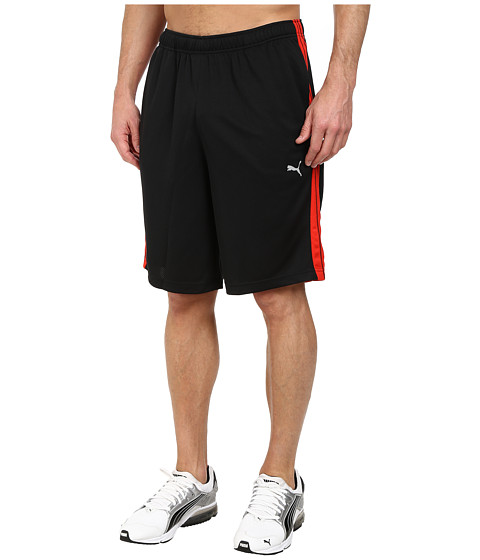 PUMA - Formstripe 10 Short (Black/Puma Red) Men's Shorts