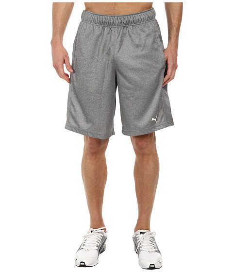 PUMA - 10 Knit Short (Medium Gray Heather) Men