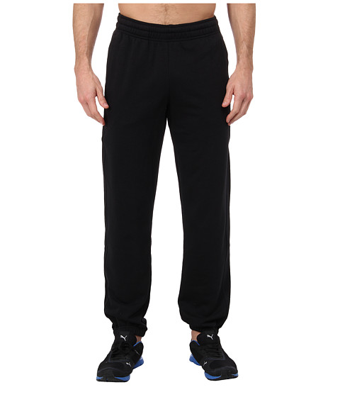 PUMA - Terry Sweat Pant Cuffed (Black) Men's Casual Pants