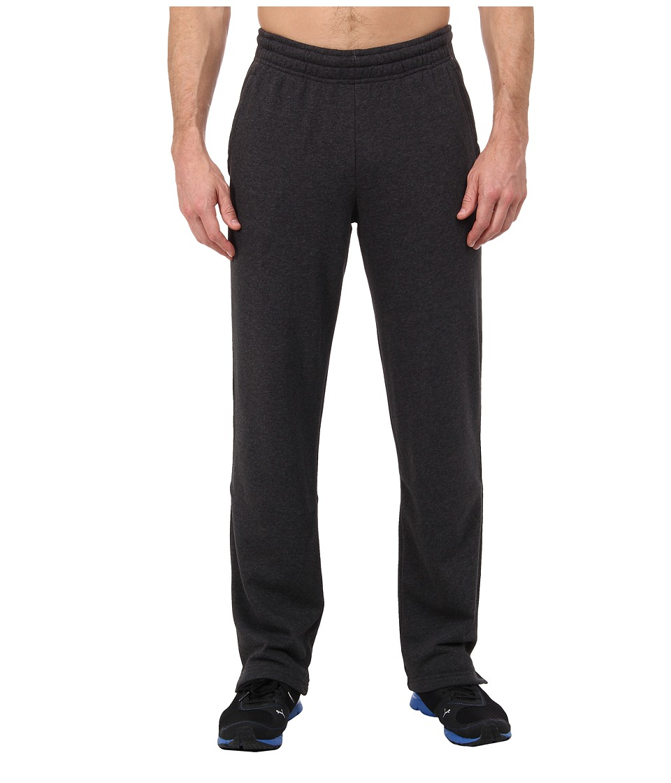 PUMA - Terry Sweat Pant Open (Dark Gray Heather) Men's Casual Pants