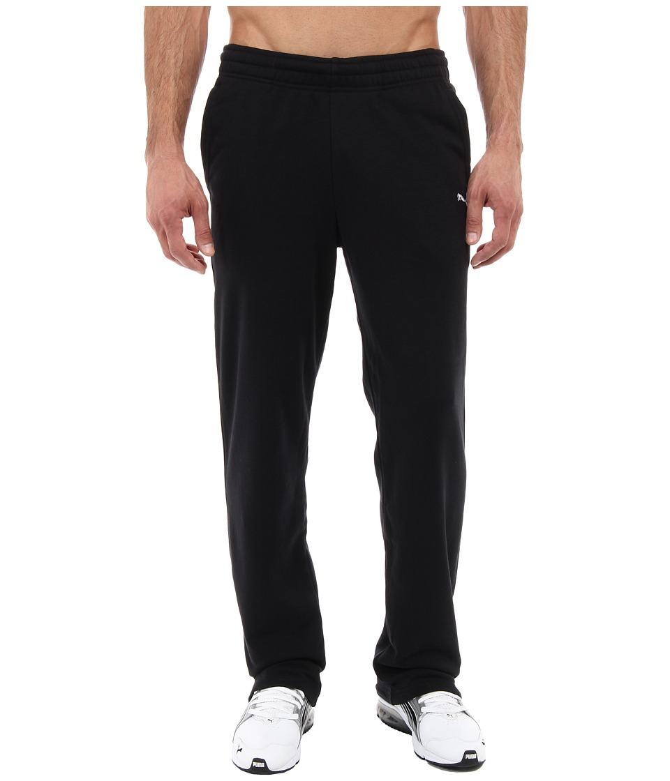 PUMA - Terry Sweat Pant Open (Black) Men's Casual Pants