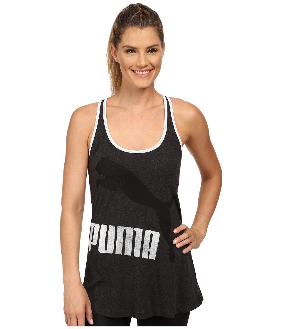 PUMA - Swing Tank (Dark Gray Heather) Women's Sleeveless