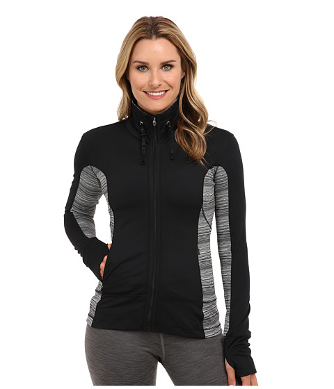 Moving Comfort - Foxie Full Zip (Black) Women's Sweatshirt