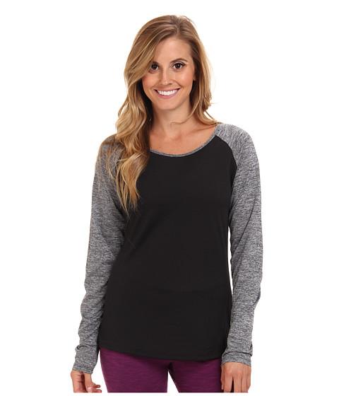New Balance - Novelty Long Sleeve Top (Black Grey) Women's Long Sleeve Pullover