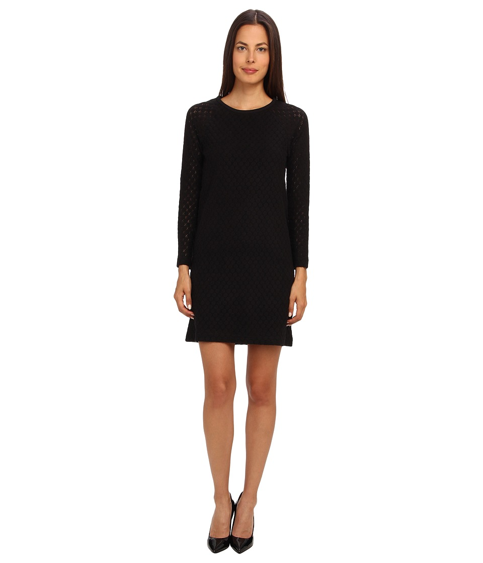 See by Chloe - Brushed Lace L/S Dress (Black) Women's Dress