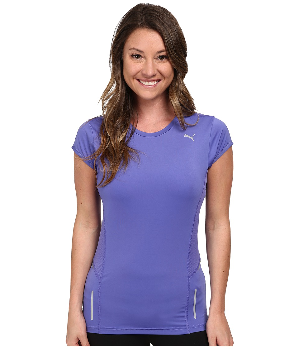 PUMA - Pr Pure Fitted S/S Tee (Blue Iris) Women