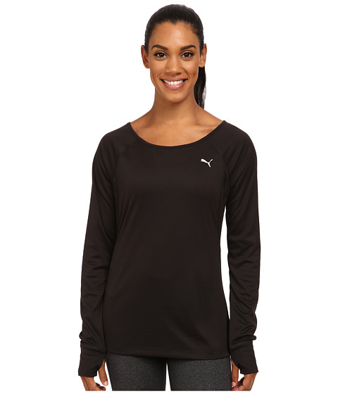 PUMA - Gym L/S Top (Black) Women's T Shirt