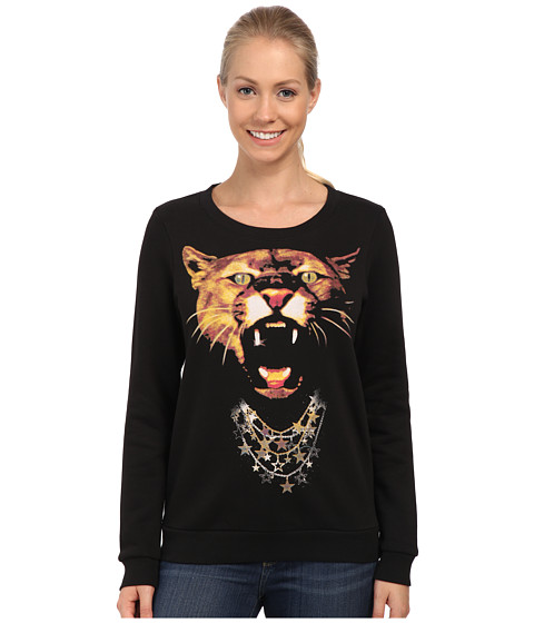 PUMA - Puma Graphic Sweat (Black) Women's Sweatshirt