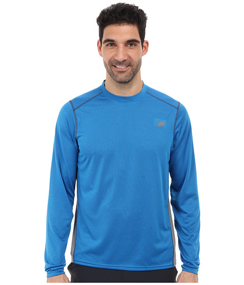 New Balance - Long Sleeve Training Top (Laser Blue) Men's Long Sleeve Pullover