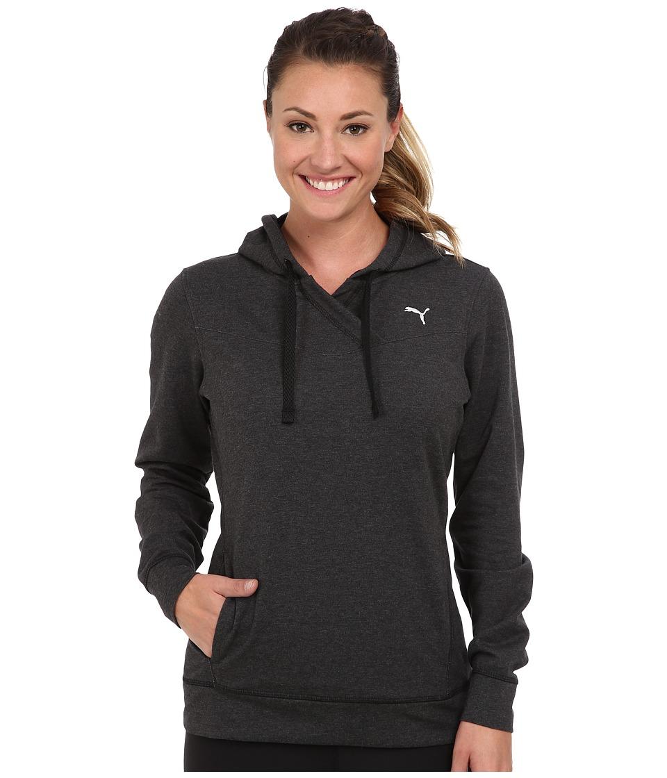 PUMA - Lightweight Coverup Top (Dark Gray Heather) Women's T Shirt