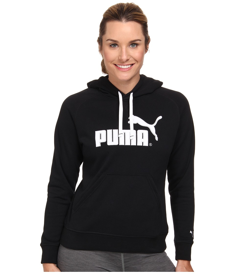 PUMA - No 1 Logo Hoodie (Black/White) Women's Sweatshirt