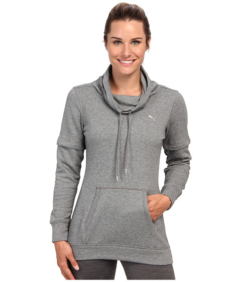 PUMA - Boyfriend Tunic (Medium Gray Heather/Violet Tulle) Women