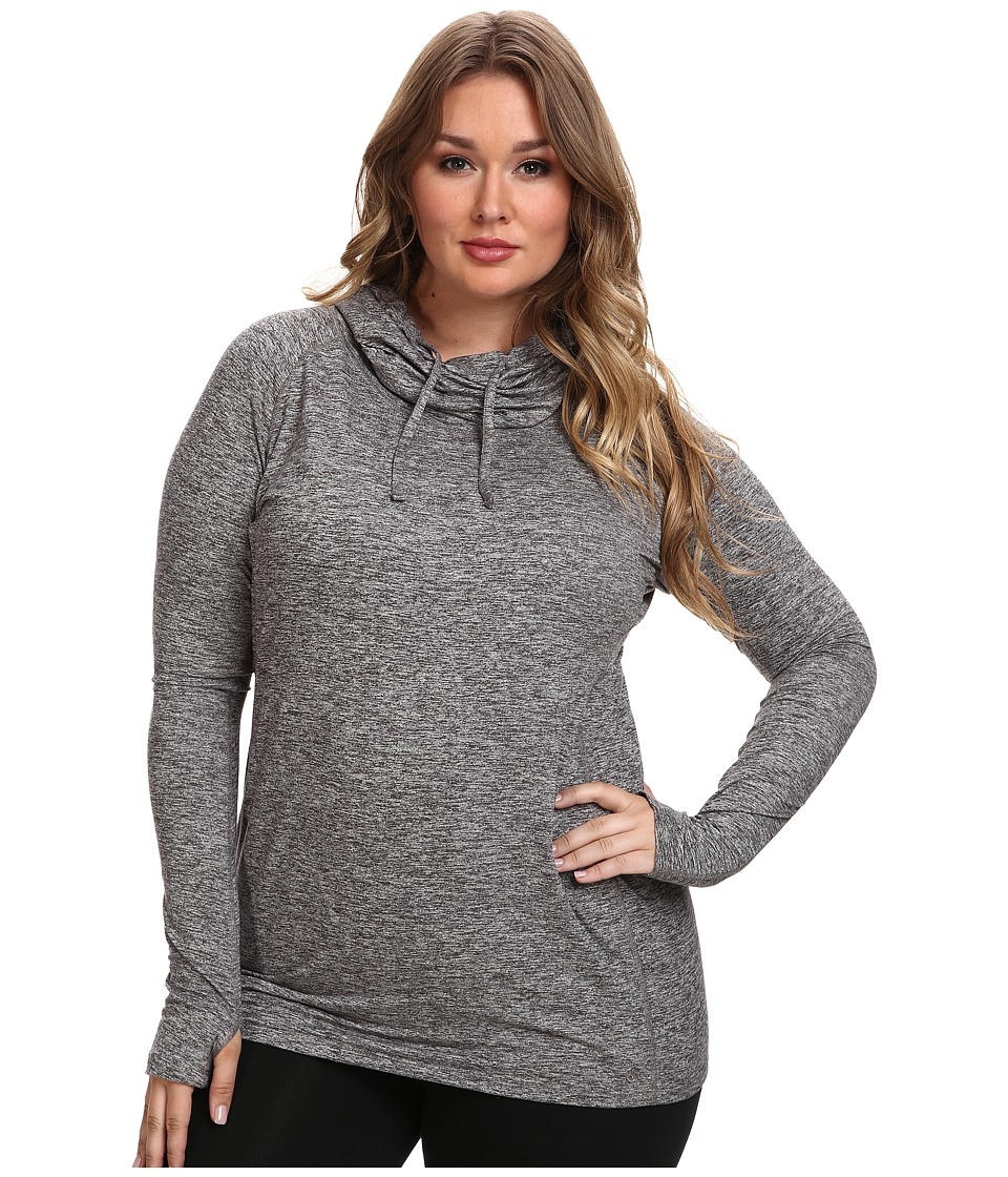 Moving Comfort - Plus Size Chic Hoodie (Ebony Heather) Women's Sweatshirt